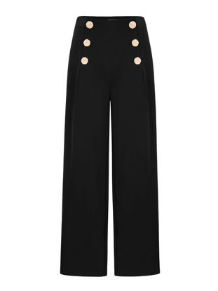 Picture of Women's Wide Leg Pants High Waist Ninth Casual Pants