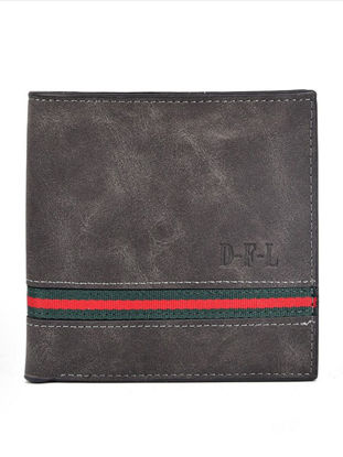 Picture of Men's Wallet Fashion Retro Ultrathin Patchwork All Match Purse