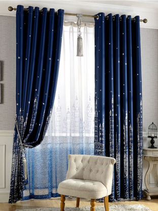 Picture of 1 Pc Home Curtain Sweet Floral Pattern Shading Curtain