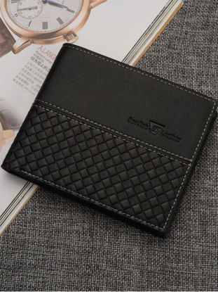 Picture of Men's Wallet Solid Color Simple Print All Match Faddish Short Wallet