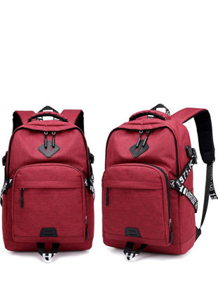 Picture of Men's Backpack Casual Style Large Capacity USB Chargeable Fashion School Bag