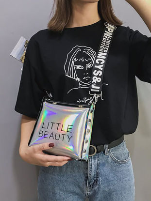 Picture of Women's Crossbody Bag Radiant Color Letter Design All Match Casual Bag