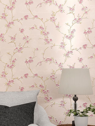 Picture of Bedroom Wall Paper 3D Vivid Sweet Plum Blossom DIY Wallpaper Home Decoration