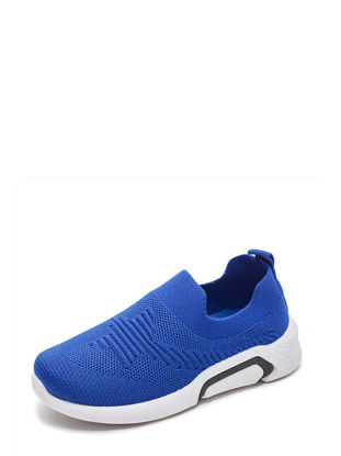 Picture of Kid's Loafers Solid Color Simple Style Unisex Shoes