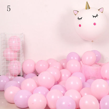 Picture of 100Pcs Birthday Party Balloons Set Candy Color Sweet Colored Latex Balloons
