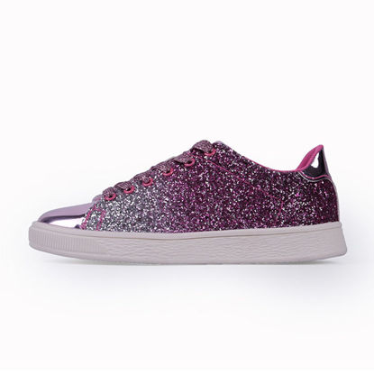 Picture of Women's Fashion Sneaker Sequins Decoration Colorblock Casual Shoes