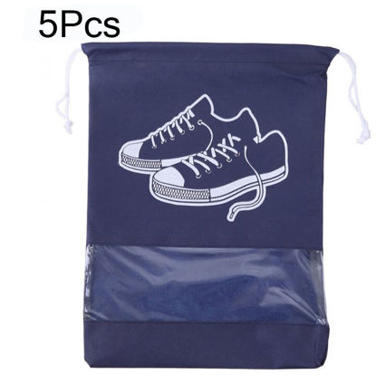 Picture of 5Pcs Travel Shoes Bags Set Dust-proof Dirty-proof Air-permeable Shoe Bag