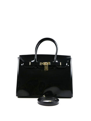 Picture of Women's Handbag Stylish PVC Handbags Glossy Birkin Bag