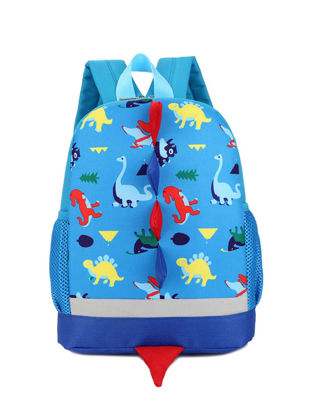 Picture of Kid's Fashion Backpack Stylish Dinosaur Design Comfy Zipper Bag