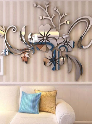 Picture of Wall Sticker 3D Flower Creative Living Room Mirror Wall Sticker