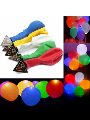 Picture of 20 Pcs Light Balloons Mixed Colors Decorative Colorful LED Balloons