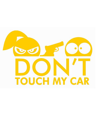 Picture of Vehicle Sticker Reflective Don't TOUCH MY CAR Design Decal Removable Waterproof Sticker