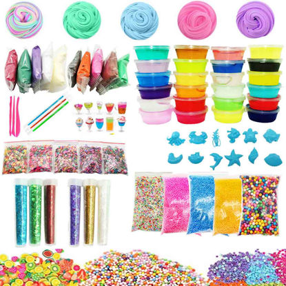 Picture of 79 Pcs Kid's DIY Slime Kit Colored Creative Kid;s Clay Toys Set