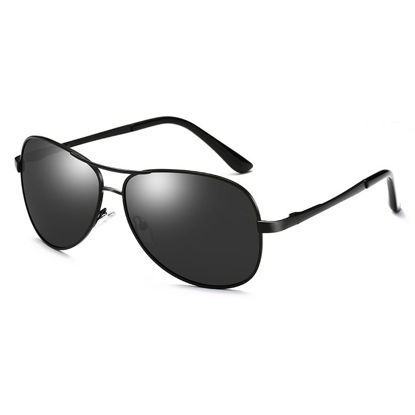 Picture of ZORAVIA Men's Sunglasses Metal Frame Classic Outdoor Anti UV Polarized Light Sunglasses Accessory