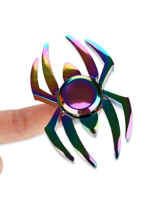 Picture of Spider Shaped Hand Spinner Colorful Alloy EDC Fidget Spinner