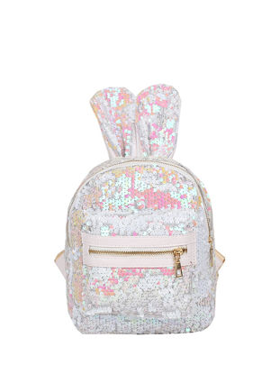 Picture of Women's Backpack Shiny Sequins Cute Rabbit Ear Trendy School Bag