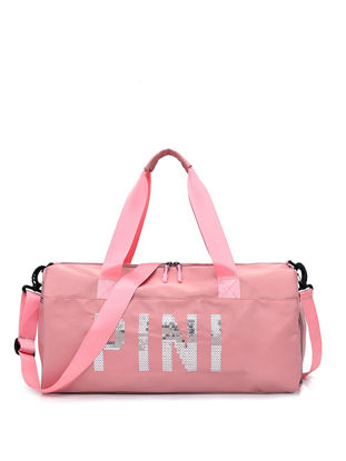 Picture of Women's Travel Bag Solid Color Large Capacity Letter Design Durable Handheld Type Bag