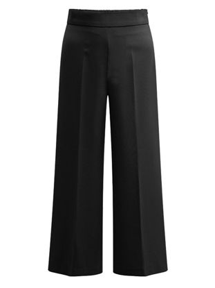 Picture of Women's Plus Size Casual Pants Solid Color High Waist Loose Wide Leg Pants