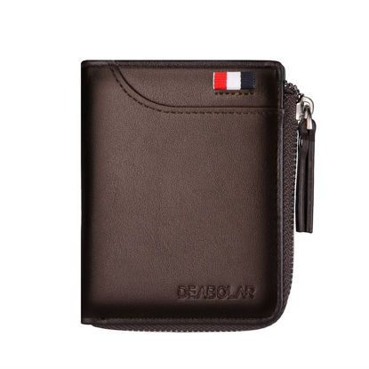 Picture of Men's Wallet All Match Solid Color Card Holder Retro Style Bag