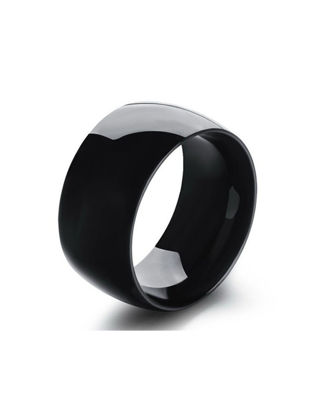 Picture of Men's Ring Solid Color Simple Stainless Steel Ring Accessory