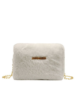 Picture of Women's Crossbody Bag Solid Color Letter Pattern Furry Design Stylish Bag