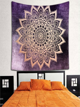 Picture of Wall Mounting Decorative Blanket Groovy Winsome Scenery Pattern Wall Decor