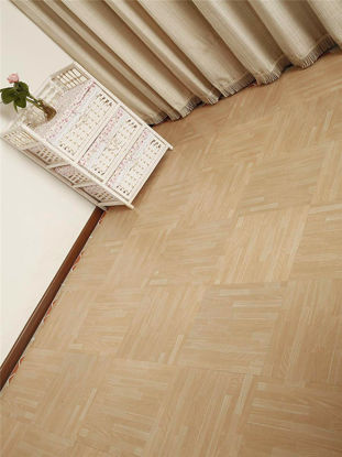 Picture of 1Pc Self Adhesive Floor Sticker Wood Grain Living Room Bedroom Square Wallpaper Decal