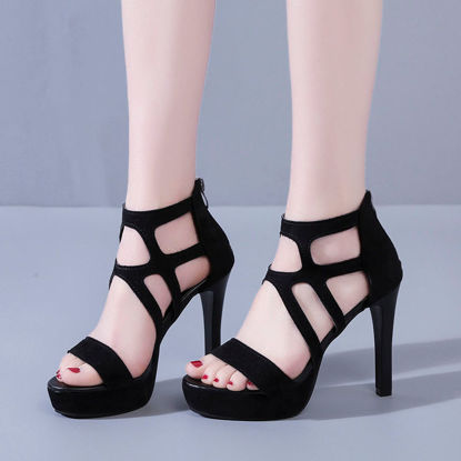 Picture of Women's High Heel Sandals Open Toe Fashion Thin Heel Sandals