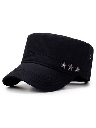 Picture of Men's Flattop Army Cap Fashion Outdoor Casual Sunhat Accessory