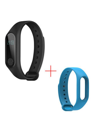Picture of 2pcs Unisex Smart Watch Fashion Healthy Heart Rate Waterproof Movement Step Smart Watch