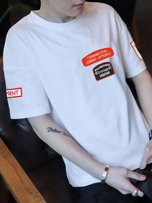 Picture of Men's T Shirt O Neck Breathable Short Sleeve Comforty T Shirt