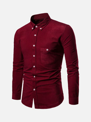 Picture of Men's Shirt Fashion Casual Solid Color Top