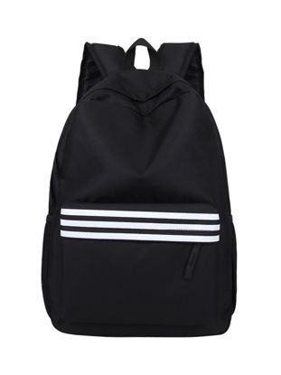 Picture of Men's Backpack Large Capacity Brief Design Color Block Striped Bag
