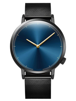 Picture of Men's Watch Fashion Simple Design Stainless Steel Round Dial Chic Quartz Watch