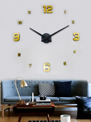 Picture of 1 Pc DIY Wall Clock Brief Style Round Shaped Wall Mounted Clock