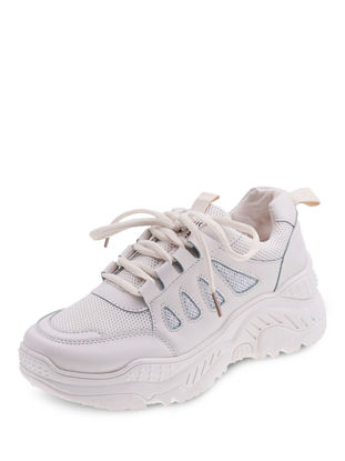 Picture of Women's Sports Shoes Round Toe Anti-skidding Lacing Shoes