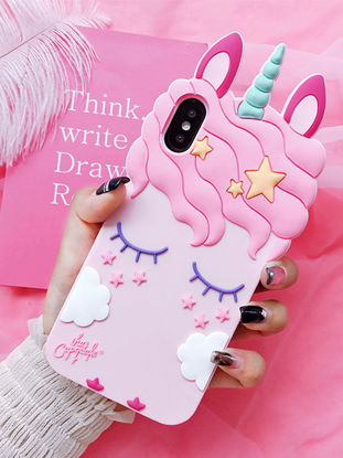 Picture of iPhone X/8/8 Plus/7/7 Plus/6S/6S Plus/6/6 Plus Phone Case Cute Unicorn Pattern Phone Shell