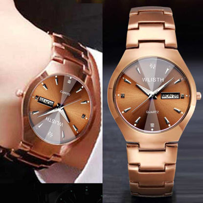 Picture of Men's Wrist Watch Waterproof Steel Band Calendar Quartz Watch Accessory