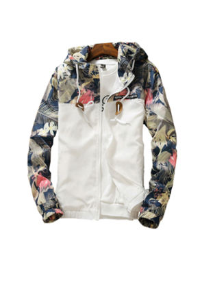 Picture of Men's Jacket Color Block Hooded Stylish Casual Jacket