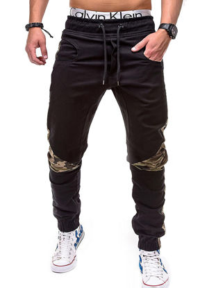 Picture of Men's Casual Pants Mid Waist Breathable All Match Good Quality Pants