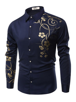Picture of Men's Shirt Casual Fashion Floral Print All Match Shirt