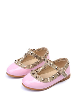 Picture of Girl's Faux Leather Shoes Rivets Decorated Fashion All Match Shoes