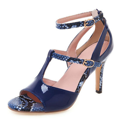 Picture of Women's High Heel Sandals Peep Toe Patchwork Fashion Shoes
