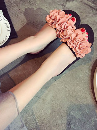 صورة Women's Stylish Slippers Vivid Floral Pattern Open Toe Slippers