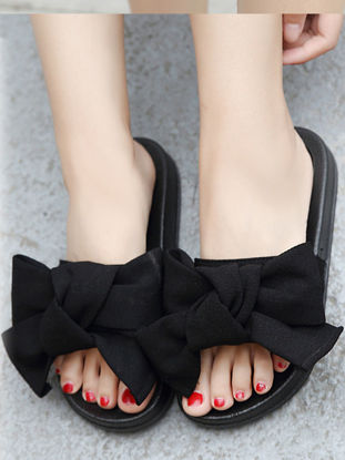 Picture of Women's Open Toe Slippers Bow Fashion All Match Casual Slippers