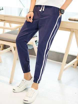 Picture of Trend youth casual nine pants men's pants student personality pants men's clothing