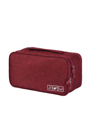 Picture of Underwear Storage Bag Solid Color Large Capacity Multi-functional Storage Bag