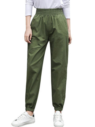 Picture of Women's Casual Pants Solid Color Wide Leg Pants