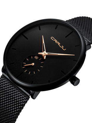 Picture of Men's Quartz Watch Round Dial Stainless Steel Band Fashion Quartz Watch