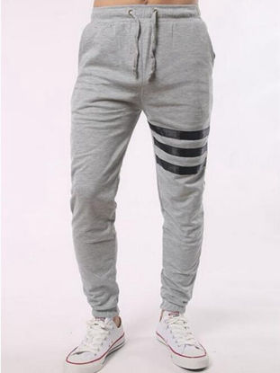 Picture of Men's Casual Pants Fashion Casual Striped Pants